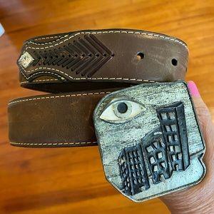 Men's Nocona Belt Company Unique Eye City Scape